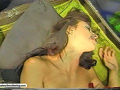 Smothering Pictures -  Punk rocker chick chokes her girlfriend
