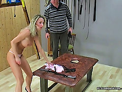 Spanking Pictures -  Hot slut gets her asshole caned