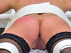 Spanking Pictures -  White slut gets paddled hard for disobeying