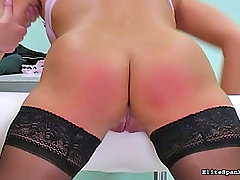Spanking Pictures -  German Slut gets whipped Hard