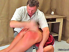 Spanking Pictures -  White euro slut gets a spanked by a stiff hand