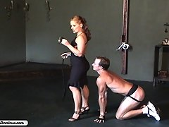 Domination Pictures -  Cold bitch beats jock during workout