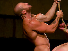 Gay Pictures -  Master Tober gives slave park a slave training of his life.