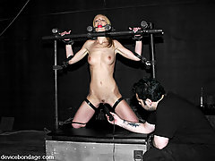 BDSM Toys Pictures -  Smokie Flame gets severely bound and punished.