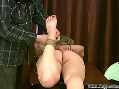 Fetish Pictures -  The girl next door gets introduced to some rope