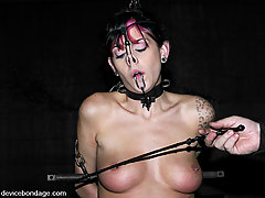 BDSM Toys Pictures -  Kayden Faye put through routine of tough BDSM positions
