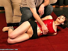 Fetish Pictures -  FetishNetwork.com - After a really hard spanking Katrina gets her legs forced open and her pussy penetrated